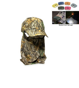 Realtree Hunting Structured Baseball Style Hat with Facemask, Edge Camo