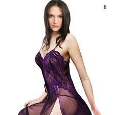 Women's Sexy Lingerie Nighty Lace Sleepwear Dress Babydoll Plus Size & G-String