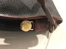 Mulberry VINTAGE scotchgrain Leather Messenger Sella Borsa Crossbody Bag DK NAVY