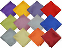 Satin Silk Pocket Square Hankie Hankerchief Wedding Formal Suit Blazer Jacket It