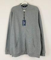 Hart Schaffner Marx Full Zip Textured Sweatshirt Jacket Gray X Large NWT $150