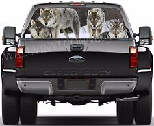 WOLF -Pick-Up Truck Perforated Rear Windows Graphic Decal,  Decal