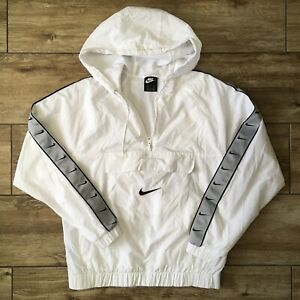Nike Sportswear Big Swoosh Pullover Jacket WHITE CD0419-100 Men's Sz Small