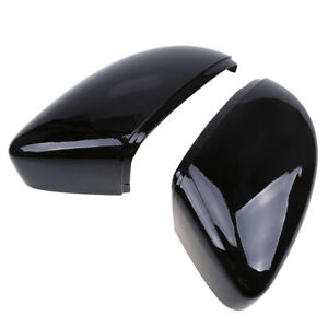2x Glossy Black Rearview Mirror Cover Caps Fit For VW CC 2009-2017 3C8857538