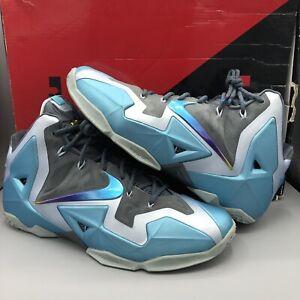 Nike LEBRON 11 XI Armory Slate Gamma Blue 2013 11.5 616175-401