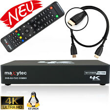 Maxytec UHD 4K MultiBox Sat-Receiver DVB-S2 DVB-C/T2 Receiver Enigma2 E2