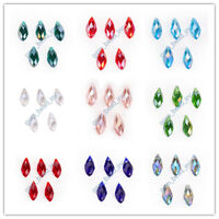 40 ColorsTeardrop Charms Faceted Pendant Glass Crystal Jewelry Beads Material