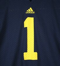 University of Michigan Wolverines Adidas Youth XL Blue Football Jersey Home