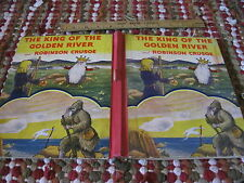 Vintage  McLoughlin Bros - King Of The Golden River and Robinson Crusoe - 1939