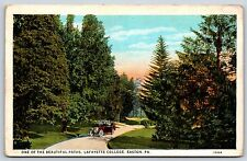 One of the Beautiful Paths Lafayette College in Easton, Pennsylvania Postcard