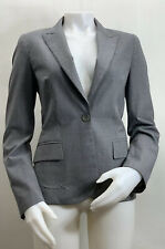 Theory Wool Gray Pant Suit Womens Size 8 Made In USA