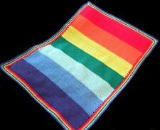 CLEARANCE - Handmade Crochet Rainbow Style Baby Blanket - Baby Shower - Cot