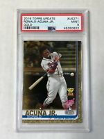 RONALD ACUNA JR 2019 Topps Update RC Cup GOLD RC /2019! PSA MINT 9! #US271! RARE
