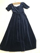 LAURA ASHLEY -Ladies Vintage Navy Blue EVENING DRESS - Size 10 New With Tags