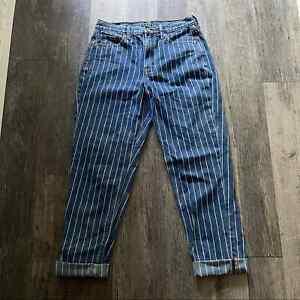 American Eagle   Striped Mom Jeans Hi Rise Womens 6