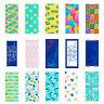 100% Cotton Velour Printed Beach Towel - 30 x 60 Ocean & Beach Designs - Soft
