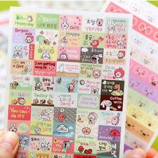 Cute Rabbit PVC Stickers Diary Organizer Decoration 6 Sheets