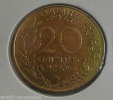 20 centimes marianne 1985 : SUP : pièce de monnaie française
