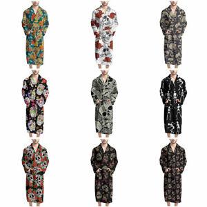 Women's & Men's Skull Soft Bathrobe Fashion Long Robe Absorbent Sleepwear Cloth