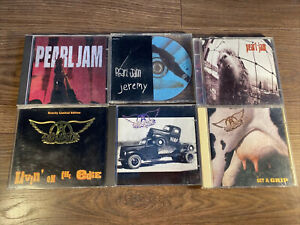 CD Bundle Aerosmith And Pearl Jam X6