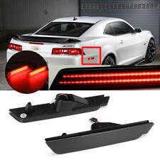 For 2010-2015 Chevy Camaro Signal Light Smoked LED Side Marker Black Rear 12V