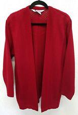 Ladies Vintage 1980's Tejidos America Cardigan Heavy Knit Dark Red Large