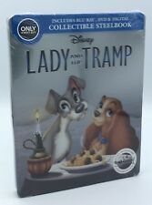 Lady and the Tramp (Blu-ray+DVD+Digital, 2018; Only @ Best Buy Steelbook) NEW