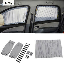 50S Gray Adjustable VIP Car Window Curtain Sunshade Protection Universal 2Pcs EB