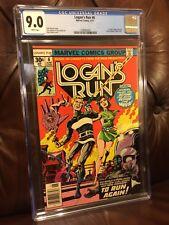 Logan's Run #6 (Jun 1977, Marvel) CGC 9.0 FIRST SOLO THANOS STORY...HOT BOOK