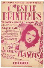 C'est le Printemps pour Jacqueline FRANÇOIS Paroles Jean SABLON & GEIRINGER 1945
