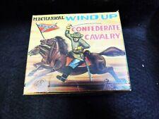 Usato Meccanico Vento Up Confederato Cavalleria Molla Con Box Lamiera Plastica