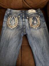 Miss Me jeans, Horseshoe embellishment, Size 29