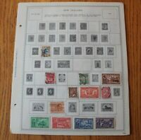 A48 Lot of New Zealand Stamps on 9 Minkus binder Pages