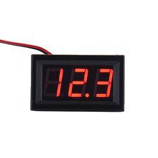New Mini DC 2.5-30V Voltmeter LED Panel 3-Digital Display Voltage Meter 2 wires