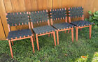Mid Centery Modern Jens Risom For Knoll 4 Side Chairs Vintage 50s
