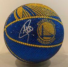 Stephen Curry Signed 1/1 SWAROVSKI Crystal Warriors Basketball FANATICS COA