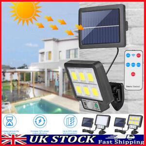 LED Split Solar Power Motion Sensor Wall Light Outdoor Garden Security Lamp UK