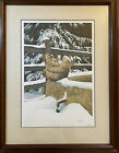 """Bob Timberlake Large """"Feed Corn"""" Framed Matted Signed & Numbered - FREE SHIPPING"""