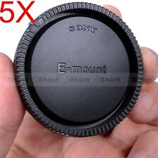 5x Rear Lens Cap Cover for Sony E-Mount Micro SLR Camera E / FE / SEL Mount