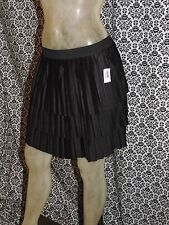 Old Navy Black Tiered Knife Pleated Elastic Waist Skirt Womens SMALL NEW NWT