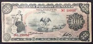1914 Gobierno Provisional De Mexico Veracruz 100 Pesos Banknote P# S1108a