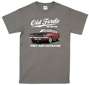 Ford Capri T Shirt Classic Car MK1 Vintage Original Design various colours