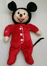 Vintage Disney Mickey Mouse Rubber Face Plush Toy