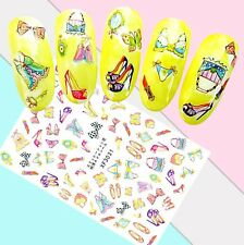 Nail Art Stickers Transfers 3D Self Adhesive High Heels Lingerie (Xf3031)