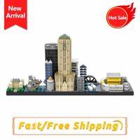 MOC The Gotham Skyline Model Building Blocks Bricks Children Educational Toys