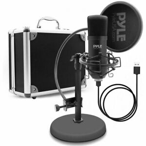 Pyle PDMIKT100 Pro Audio Recording Computer Microphone Kit with Travel Case