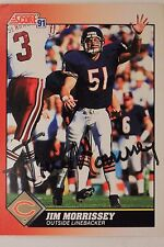 Jim Morrissey Chicago Bears MI State Autographed 1991 Signed Score Card #20716J