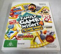 Family Game Night 4 The Game Show Nintendo Wii PAL *Complete* Wii U Compatible