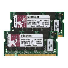 For Kingston 2GB (2X1GB) DDR PC2700 333MHZ 200Pin 2.5V SO-DIMM RAM Laptop Memory