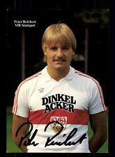 Peter reichert autographe carte vfb stuttgart 1984-85 original signée + a 155976
